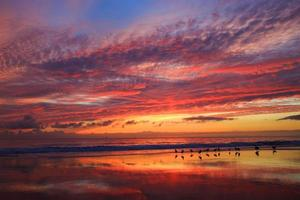 crepúsculo da praia foto