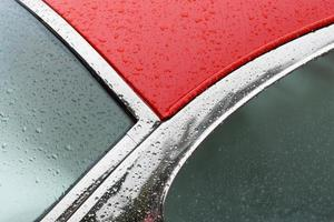 detalhe do carro vermelho
