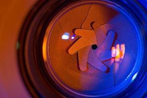 lâminas do obturador foto