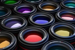lentes de câmera foto