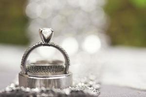 anel de noivado de casamento