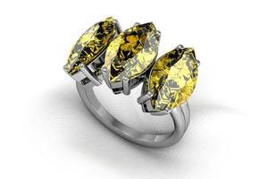 anel de safira amarela