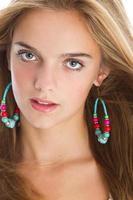 close-up lindo adolescente