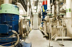 interior de engenharia industrial de óleo e gás