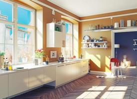 interior da cozinha foto