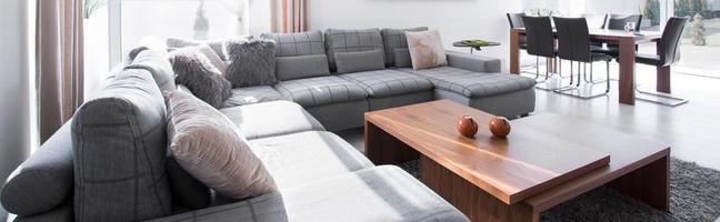sofá e mesa de centro foto