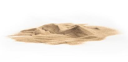 areia em fundo branco foto