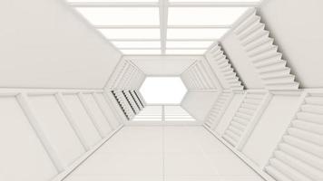 Renderização 3D de um túnel e portão foto