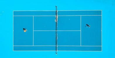 fotografia aérea de partida de tênis foto