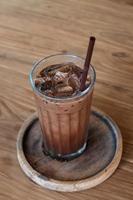 café gelado na cafeteria foto