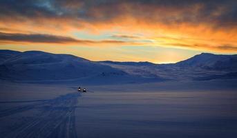 móbiles de neve no inverno foto