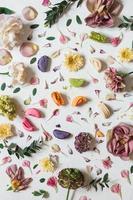 lote de flores multicoloridas foto