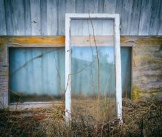 janela de guilhotina velha