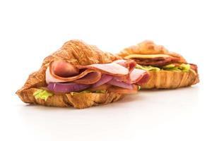 sanduíches de presunto com croissant