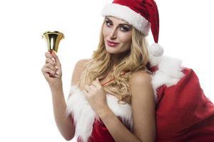 Papai Noel está vindo para a cidade foto