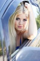motorista feliz foto