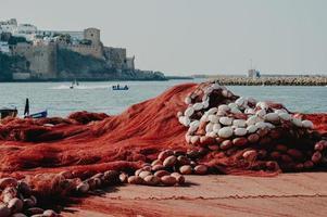 rede de pesca vermelha