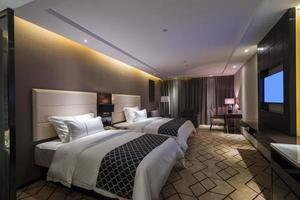 quarto de hotel de luxo