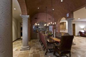 elegante sala de jantar antiga foto