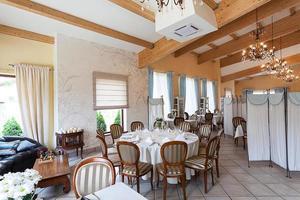 interior mediterrâneo - restaurante elegante foto