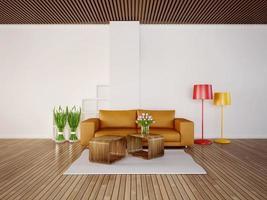 Ilustração 3D interior foto