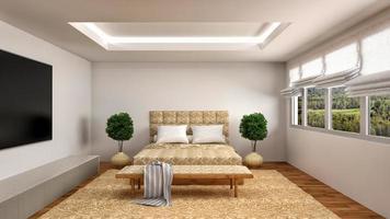 interior do quarto. Ilustração 3D