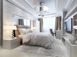 estilo art deco do quarto