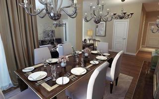 sala de jantar estilo art déco e clássico foto