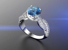 anel de noivado de ouro com diamante ou moissanite. joias backg