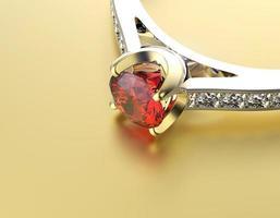 aliança com diamante. sinal de amor. granada
