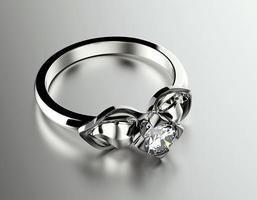 anel de noivado de ouro com diamante. fundo de joias