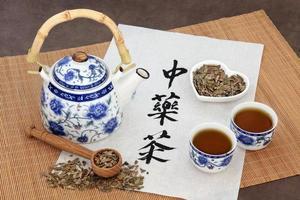 chá de ervas de ginkgo