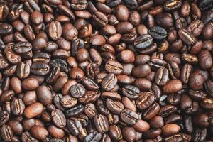 grãos de café marrons foto