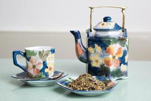 chá de ervas solto foto