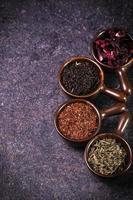 variedade de chá foto