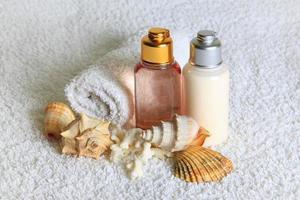 produtos de cuidados corporais foto