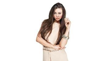 mulheres empresárias de beleza usam vestido bonito foto