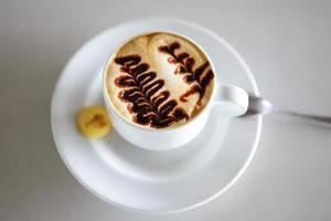 xícara de café capucino foto