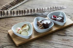 bombons de chocolate suíço foto