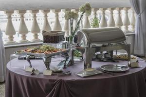 mesa de catering foto