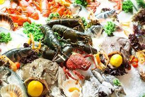 frutos do mar frescos foto