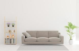 Renderização 3D da sala de estar foto