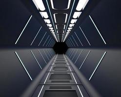 interior de nave espacial negra