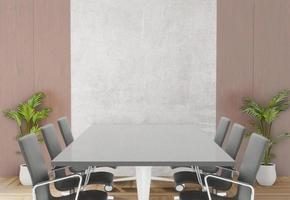 Renderização 3D da sala de reuniões