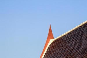 cartão postal do telhado do templo tailandês.