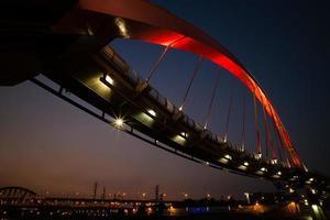 bela ponte em taipei foto