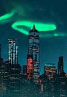 cidade à noite, imagem composta.