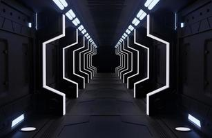 interior de nave espacial negra foto