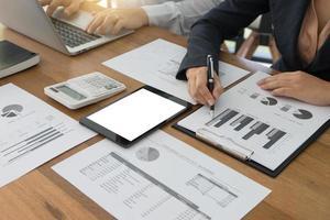 maquete de tablet de negócios