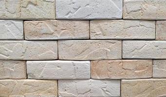 superfície de tijolo bege foto